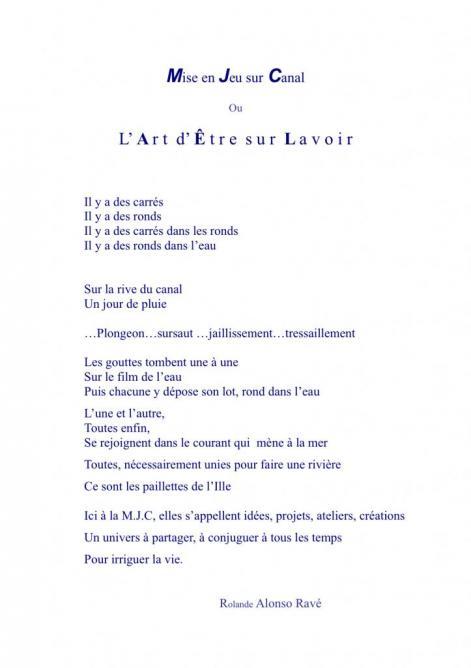 texte, MJC La Paillette